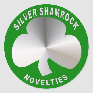 Silver Shamrock Novelties Round Sticker