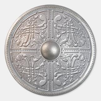 Silver Shield 14 Classic Round Sticker