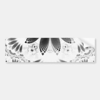 Silver Shikoba, Beautiful BnW Fractal Feathers Bumper Sticker