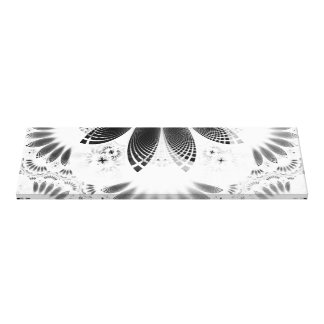 Silver Shikoba, Beautiful BnW Fractal Feathers Canvas Print