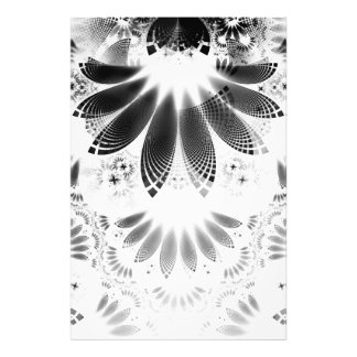 Silver Shikoba, Beautiful BnW Fractal Feathers Photo Print