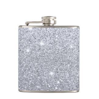 Silver Shimmer Flask
