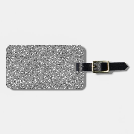 Silver Shimmer Glitter Luggage Tag
