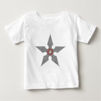 Silver Shuriken with Red Dragon Baby T-Shirt