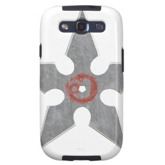 Silver Shuriken with Red Dragon Galaxy S3 Cover