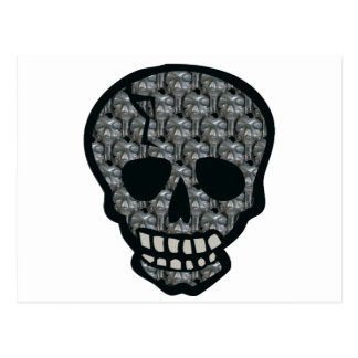Silver Skulls inside a Skull Postcard
