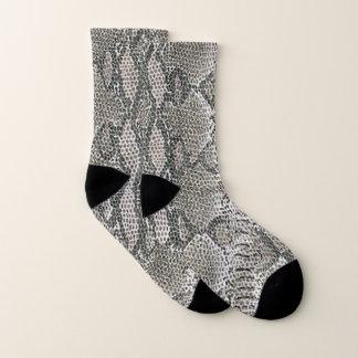 Silver Snake Skin Pattern Socks 1
