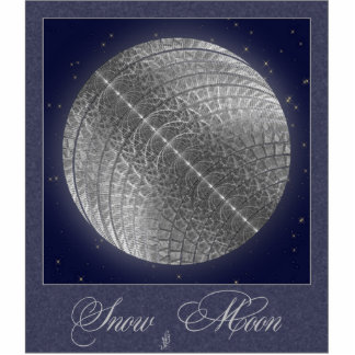 Silver Snow Moon Cut Outs
