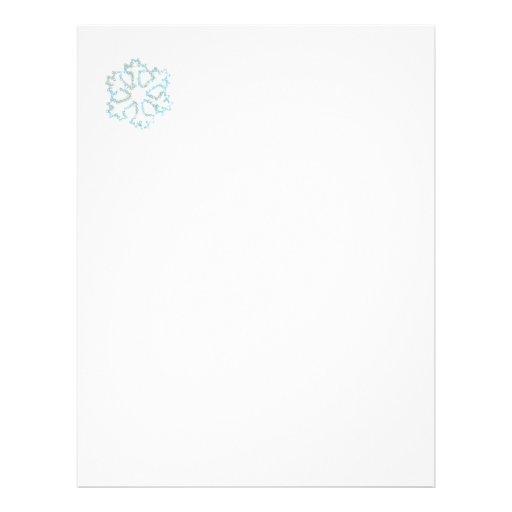 Silver Snowflake Customized Letterhead