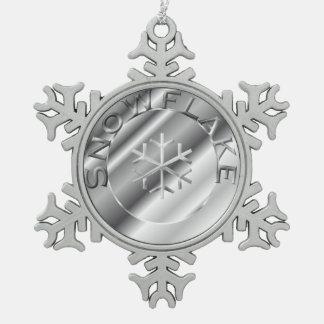 Silver Snowflake Snowflake Pewter Christmas Ornament