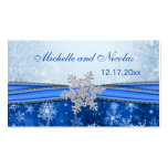 Silver snowflake Wedding Favour Tag Business Card