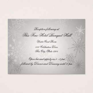 Silver Snowflakes Reception Business Card