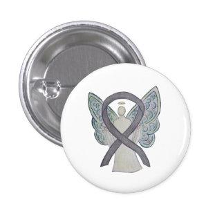 Silver Sparkle Angel Awareness Ribbon Art Pins