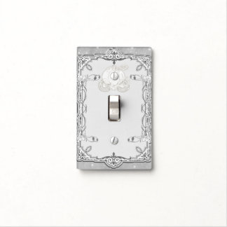 Silver Sparkle Carriage Cinderella Princess Royal Light Switch Cover