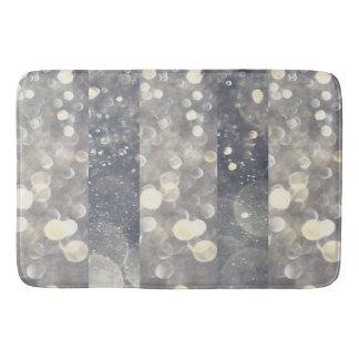 Silver Sparkle Glitter Glamour Glam Modern Trendy Bath Mat