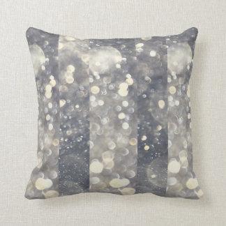 Silver Sparkle Glitter Glamour Glam Modern Trendy Throw Pillow