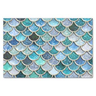 Silver Sparkle Glitter Mermaid Scales Tissue Paper