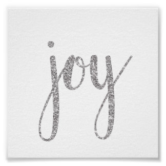 Silver sparkle holiday wall art