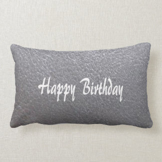 Silver Sparkle Leather Look  DIY add TEXT IMAGE Lumbar Pillow