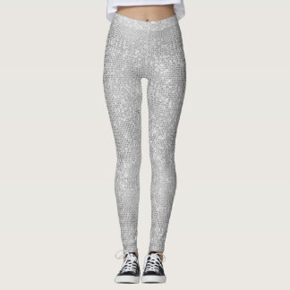 Silver Sparkle Shimmery Leggings