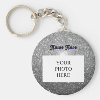 Silver Sparkles | Custom Keychain