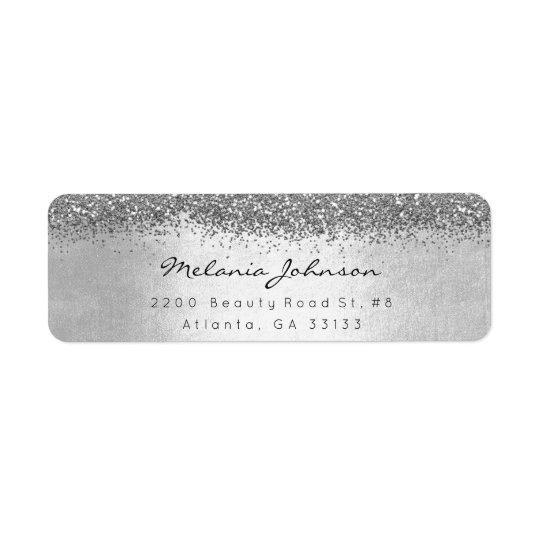 Silver Sparkly Glitter Silver Metallic