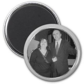 silver speckle frame magnet