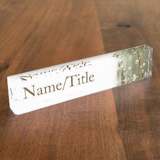"""""""Silver Spheres"""" Nameplate"""