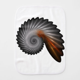 Silver spiral burp cloth