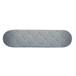 Silver Spiral in brushed metal texture Skateboard Deck