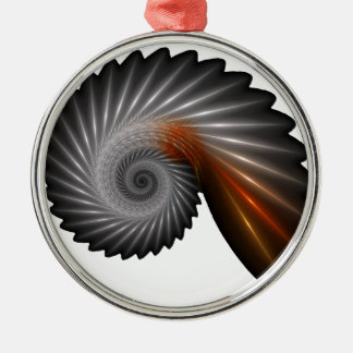 Silver spiral metal ornament