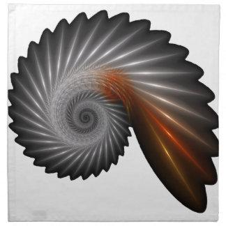 Silver spiral napkin