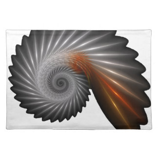 Silver spiral placemat
