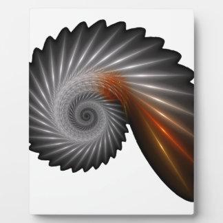 Silver spiral plaque