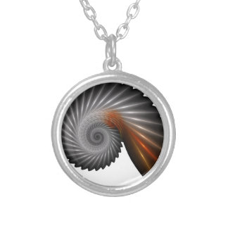 Silver spiral silver plated necklace
