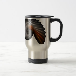 Silver spiral travel mug