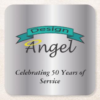 Silver Square Custom Logo Branded Paper Coasters