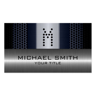Silver Stainless Modern Gray Hole Steel Look Pack Of Standard Business Cards
