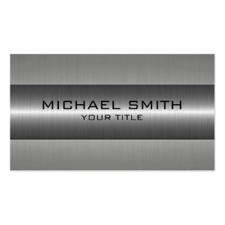 Silver Stainless Steel Look Business Card