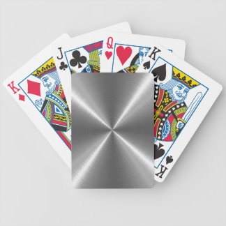 Silver Stainless Steel Metal Bicycle Playing Cards