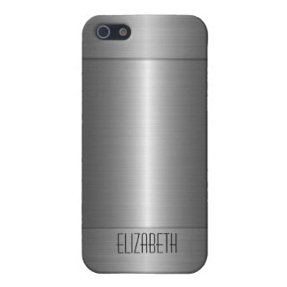 Silver Stainless Steel Metal iPhone 5/5S Cases