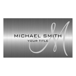 Silver Stainless Steel Metal Pack Of Standard Business Cards