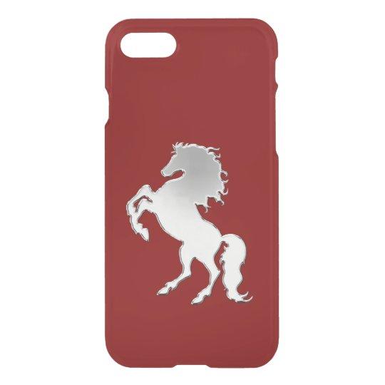 Silver Stallion Black iPhone 7 Case