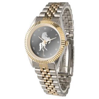 Silver Stallion Roman Numeral Watch