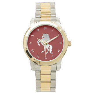 Silver Stallion Roman Numeral Watch