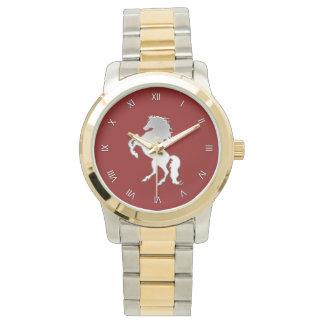 Silver Stallion Roman Numeral Wristwatch