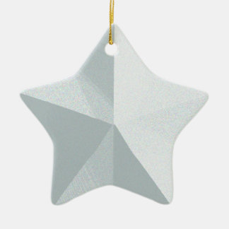 Silver Star Christmas Ornament Customizable
