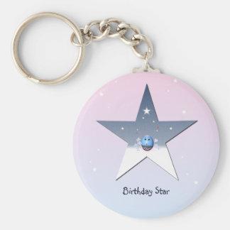 Silver Star for Children Keychain
