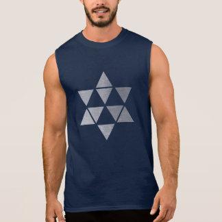 silver star men's sleeveless tshirt
