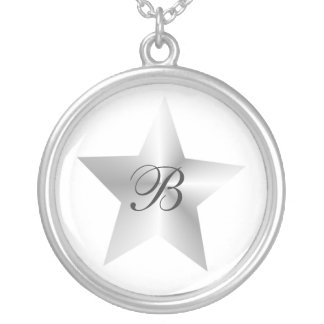 Silver Star Monogrammed Necklace